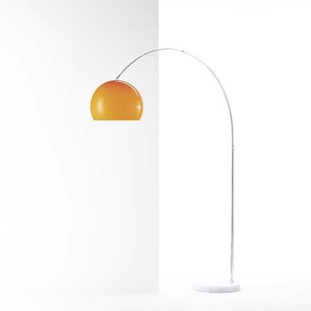 BIG ARC ECO ORANGE Design Bogenleuchte mit Marmorfuss