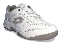 Lotto Damen Tennisschuhe Court Logo VIII Indoor Weiss (100) 38EU