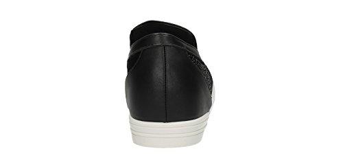 Skyler Noir Diamante pour femme Creepers Sandales Tissu Robe formateurs Chaussures Taille 3–8–SwankySwans Noir - noir