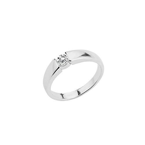 Jingranyou Homely Silver Color Ring Modell Grade Ring für Frauen und Männer(None 11 Silver 11.)