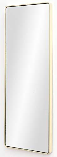 FineBuy Wandspiegel FB13966 Gold 36 x 100 x 4 cm Spiegel Modern Rahmen Groß | Hängespiegel Schlafzimmer Rechteckig | Garderobenspiegel Flur zum Aufhängen Eckig | Design Dekospiegel Wand Wohnzimmer