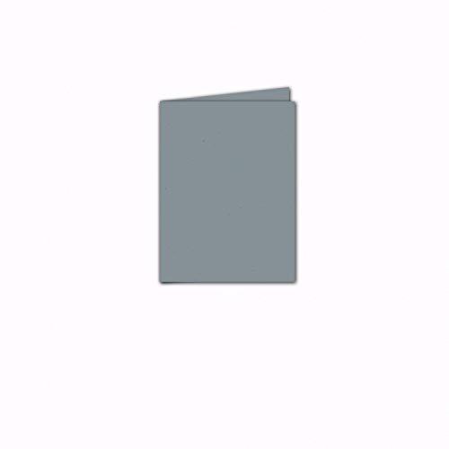 Faltkarte/Doppelkarte - Greenline Pastell Misty Blue / 100 Stück/DIN A5