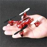 Hubsan X4H107C Quadrocopter Mini Drone Quadrocopter mit Kamera Spion 2MP Full HD 1280x 720–Farbe rot