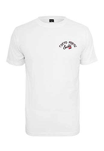 wide range great quality discount shop Mister Tee Tokyo House Sushi T-Shirt Homme, White, XXL
