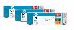 HP C9483A - 91 Cyan Ink Cart 3pk -