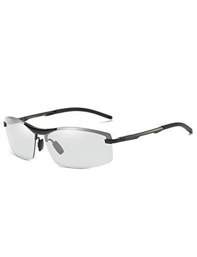 DPDH Sonnenbrillen Design ChameleonSquare Sonnenbrille Herren Polarisationsbrille Fahrer Fahrspiegel Herren Sonnenbrilleblack-photochromic