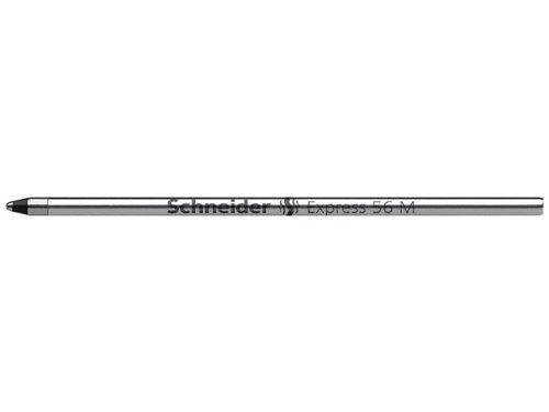 Schneider Express 56 M Kugelschreiber Mine (Edelstahlspitze, dokumentenecht) 20er Packung schwarz