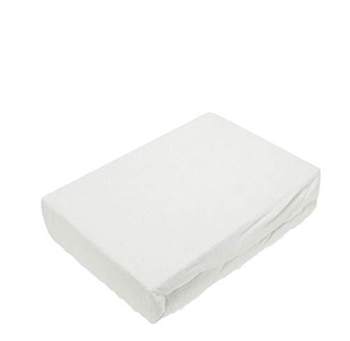 Lenzuolo con angoli elasticizzati in diverse misure e colori, spugna, bianco, 180 - 200 x 200 cm