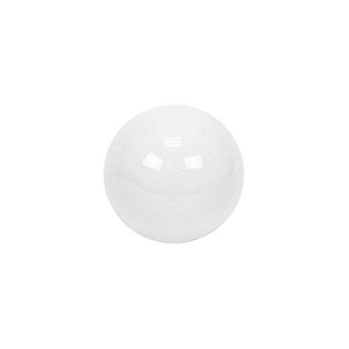 Boule, bille, balle, globe decorative en ceramique blanc, 6 cm