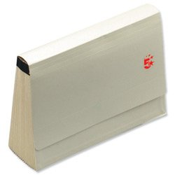 Brand New. 5 Star De Luxe Expanding File with Flap