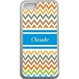 Claude Chevron Bleu Nom Design Iphone 5C Coque (Transparent) avec protection pare-chocs en caoutchouc pour Apple iPhone 5C Étui vendre sur zeng