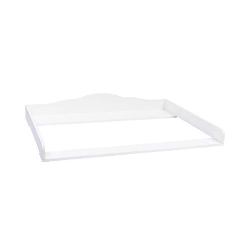 Puckdaddy Wickelaufsatz Max - 80x78x15 cm, Wickelauflage aus Holz in Weiß, hochwertiger Wickeltischaufsatz passend für Kommoden, inkl. Montagematerial zur Wandbefestigung