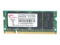G.Skill SO DDR2 PC2-5300 CL5 4GB memoria 667 MHz