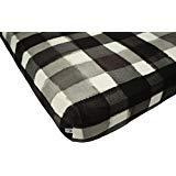 100% Organic Bamboo Fitted Crib Sheet - Buffalo Check. Best for Standard Crib