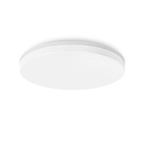 18W LED Deckenlampe 4000K Neutralweiß, Rund ø28 Cm, Wasserdicht IP54,  Aufbau Deckenleuchte Fürs Bad Wohnzimmer Schlafzimmer Küche Treppen Flur  Korridor ...