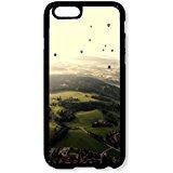 IPhone 611,9cm Telefon Fall Ballon Party Green Mountain Nature schwarz Hartschale aus Polycarbonat für Apple iPhone 611,9cm Fall ()