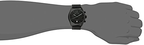 So & Co New York Monticello Men's Quartz Watch with Black Dial Analogue Display and Black Leather Strap 5028.2