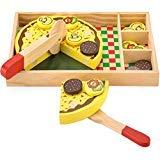 zza Spielen Lebensmittel Set für Kinder, Rollenspiel Pizza Party mit 12 Beläge ()