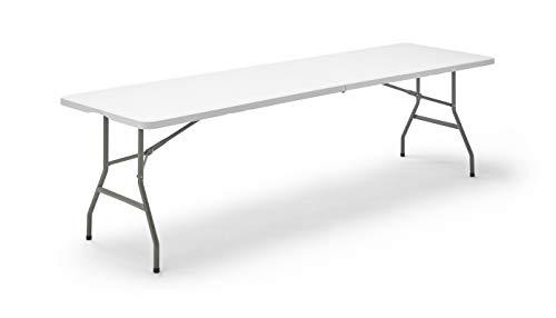 KitGarden - Mesa Plegable Multifuncional, 240x74x74 cm, Blanco,  Folding 240