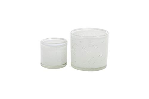 Dutz Übertopf Cylinder/Votive H10 D10 White bublles