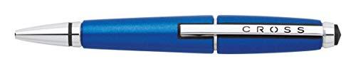 Cross Edge Rollerball (Strichstärke M, Schreibfarbe: schwarz, nachfüllbar, inkl. Premium Geschenkbox) nitro-blau