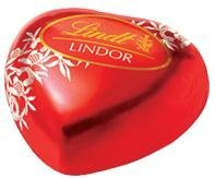 100 LINDT LINDOR MILK CHOCOLATE HEART TRUFFLES WITH SMOOTH MELTING FILLING by Lindt