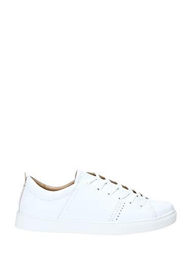 Skechers Damen Moda Solid Weiße Glattleder Sneaker Größe 38 Weiß (Weiss) - Skechers-damen-mode