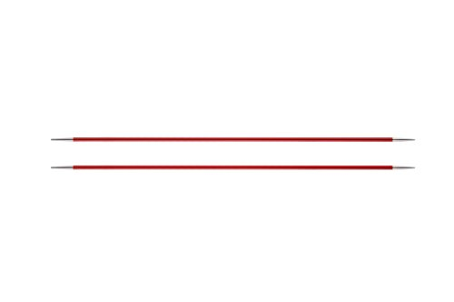 KnitPro 47033 Nadelspiel Zing 20 cm, 2,50 mm, Granat - Rot Mitte Der Ferse