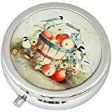 WuCong Elektrischer Herd-Brenner, individuelles Design, Glas, rund, Pillenetui, für Westernmedizin, Tablettenhalter, dekorative Box -