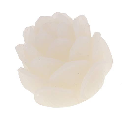 hnitzte Lotus Blume Spacer Perlen Charms Beads Zwischenperlen Charme DIY Basteln ()