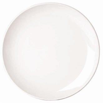 Classique White Rim Assiette plate étroite. Dimensions: 240 mm (9,5 \