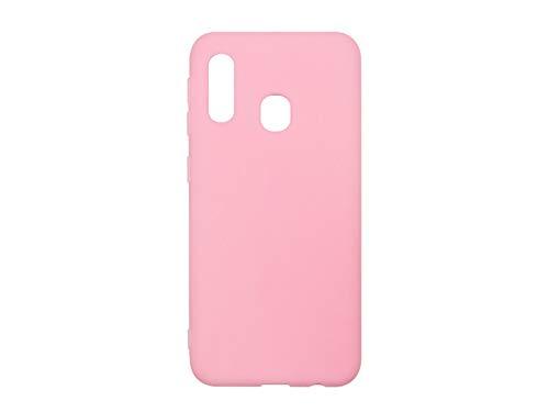 etuo Hülle für Samsung Galaxy A20e - Hülle Soft Flex - Rosa Handyhülle Schutzhülle Etui Case Cover Tasche für Handy (Flex Cover-für Handy)
