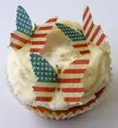 24 x Pre Cut American America USA Vintage The Royal Wedding Prince Harry and Meghan Markle Flag Butterfly Butterflies Fairy Muffin Cup Cake Toppers Decoration Thanks Giving 4th July Thanks Giving Independence Day Edible Rice Wafer Paper