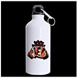 LaHuo Football Team Cincinnati Bengals Gloves Logo For Sports Fans Custom Design Travel Water Bottle Hiking Tea Cup Coffee Mug 13.5 OZ