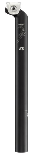 Crank Brothers Cobalt 2 - Tija del sillín (desplazado 20 mm) para bicicletas, tamaño 27.2 / 20mm, color negro
