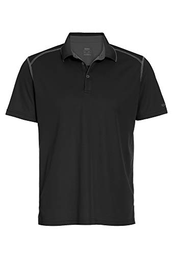 Sportives Outdoor Polo Shirt für Herren schwarz,XL