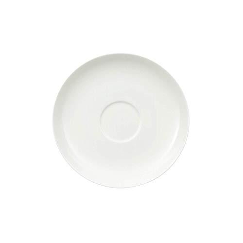 Villeroy & Boch Royal Café au Lait-Untertasse, schlichter Unterteller aus Premium Bone Porzellan, spülmaschinenfest, 180 mm