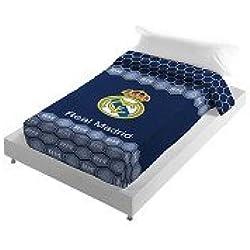 Real Madrid CF Manta Escudo Terciopelo Azul 160 x 220 cm