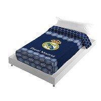 Real Madrid CF Manta Escudo Terciopelo Azul 160 x