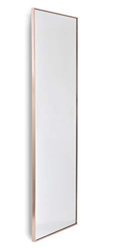 Home Selections Espejo de Pared Grande de Metal con Marco de Color Oro Rosa, 40 x 120 cm, 50 x 150 cm...
