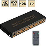 AwakeLion 4K@60Hz commutatore HDMI Switch 5x1 sostiene 1080P,HDR,HD/3D,HDCP2.2