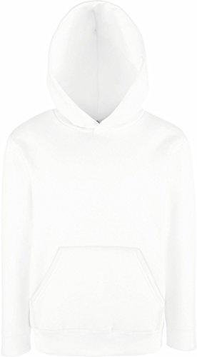 Fruit of the Loom - Classic Kinder Kapuzen-Sweatshirt 'Kids Hooded Sweat' 164,White (Pullover Weiße Kinder)