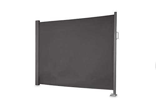 empasa Seitenmarkise 'slim' Sichtschutz Sonnenschutz Windschutz in verschiedenen Größen anthrazit oder cremeweiß