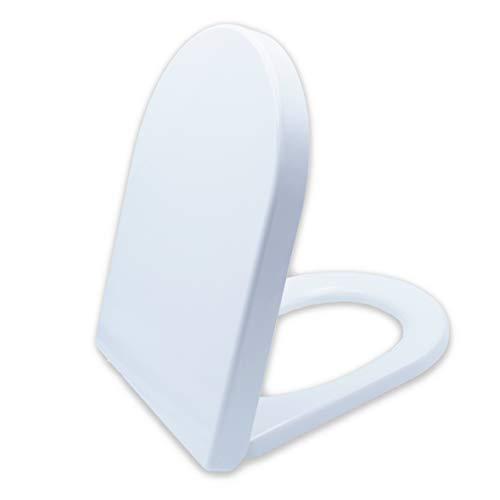 Premium WC-Sitz mit Absenkautomatik - Antibakteriell dank Duroplast - Toilettendeckel mit QuickClean Funktion - Einfacher Einbau von oben - 100{c9aec2cee8877210477f516692814dac6c37d4f762364d7d49db77052c349a57} Zufriedenheitsgarantie
