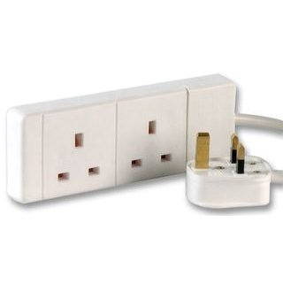 Aptii 2 Socket Gang Power Cord Extension 15 meters
