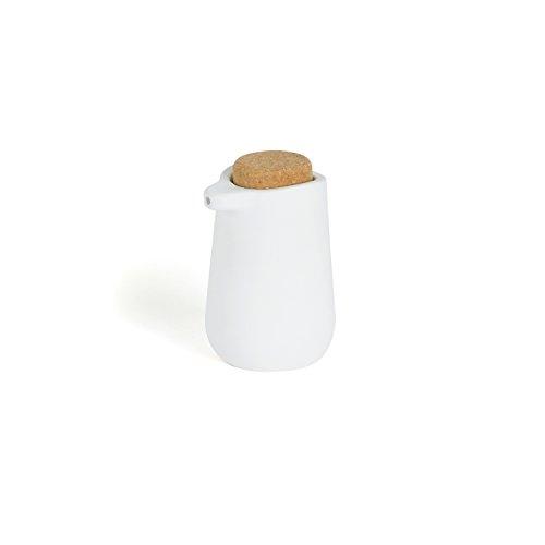 Umbra Kera - Dispensador de jabón en cerámica y Corcho, Color Blanco