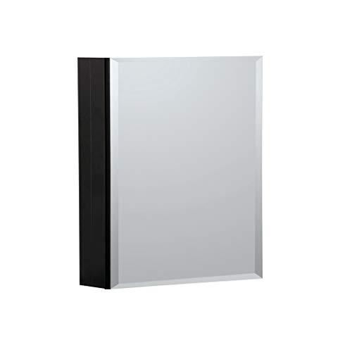 B&C Medizinschrank aus Aluminium, 3 Spiegel, Öffnung für links oder rechts, verstellbare Ablagen aus gehärtetem Glas, einfache Montage auf Oberfläche oder Nische 16