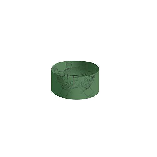 OSE Housse de protection PVC table ronde de jardin - Vert - 120 cm