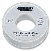 1 Rolls 12mm x 12m Water White plumbers ptfe thread seal tape plumbing joint
