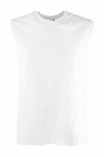 T-Shirt ohne Ärmel, Farbe:White;Größe:L L,White (Ärmel T-shirt Running)